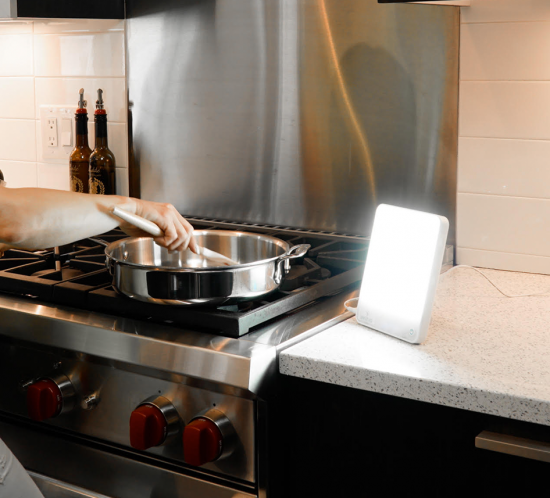 Suncatcher Light Therapy In Kitchen